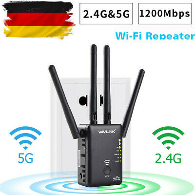 Wavlink 1200Mbps WLAN Repeater 2.4G&5G Wireless Router Range Extender Dual Band