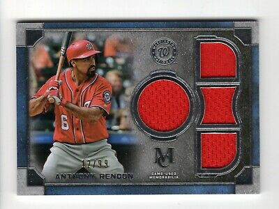Anthony Rendon Mlb 2019 Topps Museum Collection Primary Quad Relics (Nationals)
