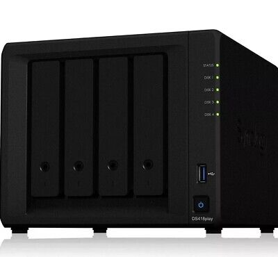 Synology DS418play  Disk Station,  NSA ,4-bay, 2GB DDR3L (Diskless)