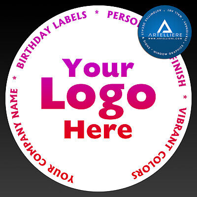 Round Laser Printed Labels Stickers Custom Logo Design 45mm 51mm 63mm