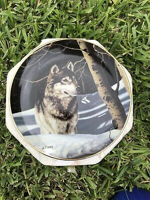 "Bradford Exchange Realm Of The Wolf ""Night Watch"" Collectors Plate #LA1334"