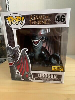 "Funko Pop! Game Of Thrones Drogon #46 6"" Inch Hot Topic Exclusive Red Eyes"