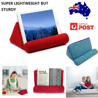 Tablet Pillow Stand For iPad Phone Book Reader Holder Rest Lap Reading Cushion