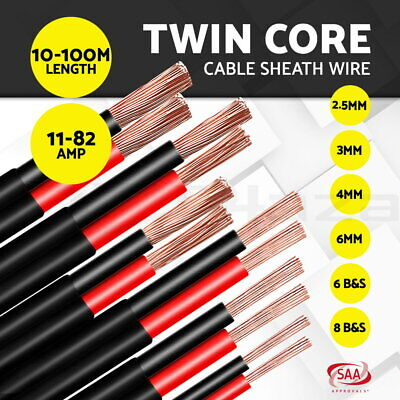 【20%OFF】 Electrical Wire Electric Twin Core Cable 2.5-13mm Gauge Extension 450V