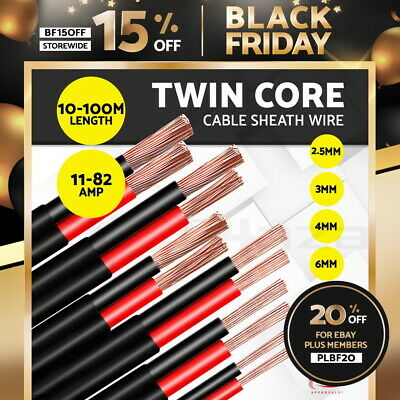Electrical Wire Electric Twin Core Cable 2.5-13mm Gauge Caravan Extension 450V