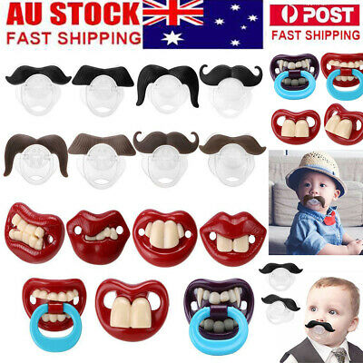 A+ Funny Dummy Dummies Pacifier Novelty Moustache Baby Child Soother nipple Toys