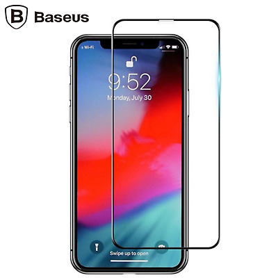 BASEUS 9H 0.3mm Glue Tempered Glass Full Screen Protector for iPhone X XR XS max