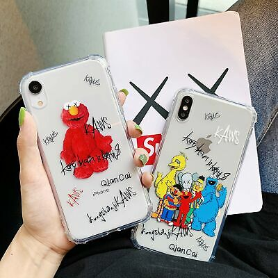 KAWS Sesame Street Clear Soft Phone Case Cover For iPhone X XR 6s 7 8Plus Xs Max