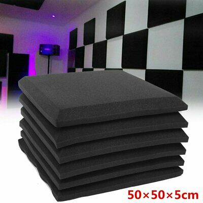 6/12/24Pcs Acoustic Foams Wedge Panel Tiles Studio Room Wall Sound Proofing Room