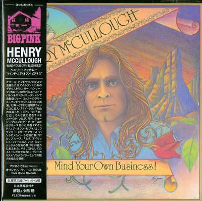 HENRY MCCULLOUGH-MIND YOUR OWN BUSINESS JAPAN MINI LP CD Ltd/Ed F83