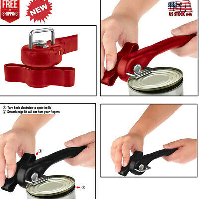 New Metal Can Opener Effortless Smooth Edge Manual Easy Turn Knob Home Hot 889