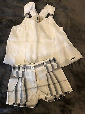Designer Girls Burberry Shorts And Top Age 5 Years