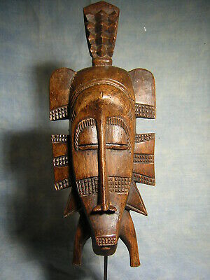 Art Africain Ancien Masque Senoufo Statue Africaine African Mask Tribal Afrique