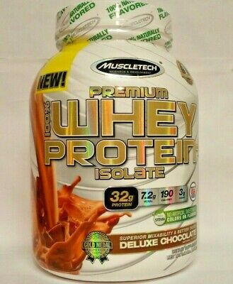 Muscletech Premium Whey Protein Isolate Deluxe Chocolate Stevia 3lbs