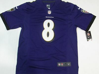 pretty nice cd545 0ed53 NEW LAMAR JACKSON #8 Baltimore Ravens Mens Game onfield Jersey Away Purple