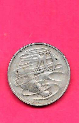 Australia Km66 1972 Vf-Very Fine-Nice Large Old 20 Cent Animal Coin