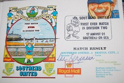 Southend V Bristol Rovers 1991 First Day Cover Signed By Scorer Ian Benjamin