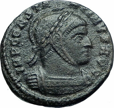 CONSTANTINE I the GREAT 319AD Authentic Ancient Roman Coin VICTORY ANGELS i79398