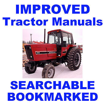 IH 3088, 3288, 3488 Hydro & 3688 Tractor Service Repair Shop IMPROVED Manual CD