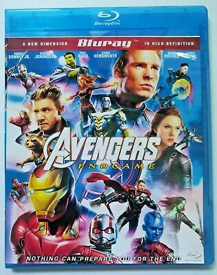Marvel Avengers Endgame End Game Blu-ray+ Free Shipping