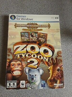 NEW ZOO TYCOON 2 PC CD-ROM Limited Edition With Tiger Pen