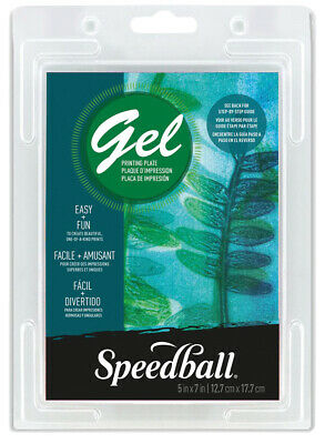 Speedball Art Products 008001 Gel Printing Plate 5X7