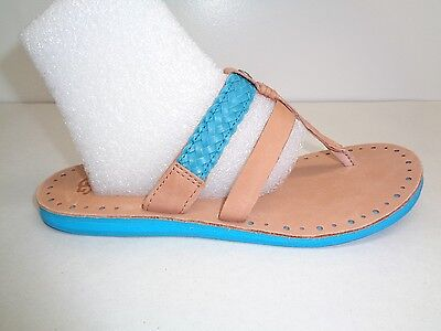 344539131b2 TATOOSH SANDALS WOMEN Shoes Leather Rope Braid Blue Flats Size 37 ...