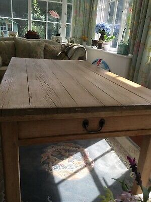 Antique  Victoria/Edwardian  farmhouse Table Pine Table With Draw To End.