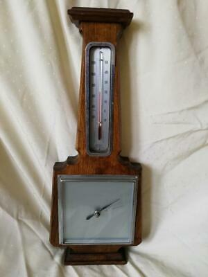 Very Fine Mid Century Art Deco Barometer Weather Station By Smiths