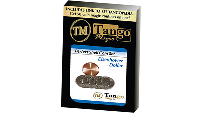 Perfect Shell Coin Set Eisenhower Dollar (Shell and 4 Coins D0202) by Tango Magi