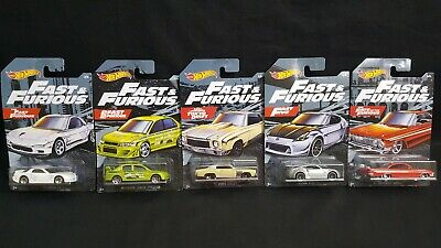 2019 Hot Wheels Fast and the Furious Walmart Exclusive -  Set of 4 Cars