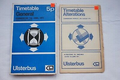 1971 Ulsterbus Bus Timetable Belfast Newry Omagh Armagh Northern Ireland Irish