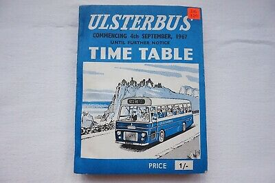1967 Ulsterbus Bus Timetable Belfast Newry Omagh Armagh Northern Ireland Irish
