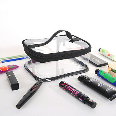 Clear Transparent PVC Cosmetic Makeup Toiletry Bag Travel Wash Bag Storage Pouch