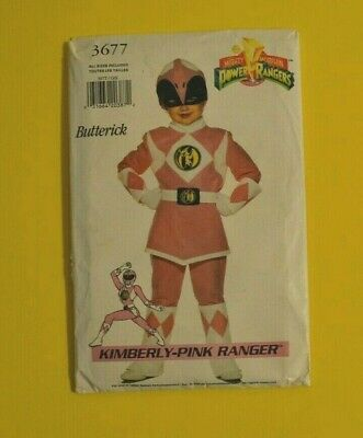 Butterick 3677 sewing pattern, Halloween costume Pink Power Ranger child sz 4-14