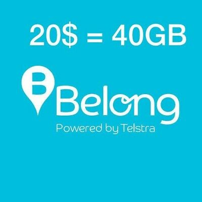 Belong Mobile Data Gift -40 GB