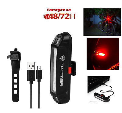 Luz Trasera Bicicleta Bici Led Recargable Usb Potente Waterproof impermeable