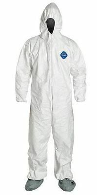 (Pack of 20) Dupont TY122S White Tyvek Coverall Bunny Suit Hood & Boots 1-3XL