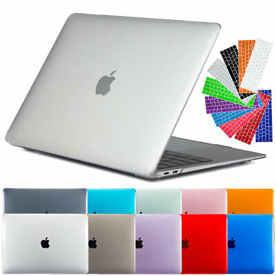 "For Macbook Air 13"" Inch 2018 2015 Clear Rubberized Hard Case Keyboard Cover"