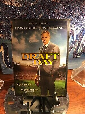 Digital UV Code Draft Day And DVD Kevin Costner Football/sports Film. Very Nice!