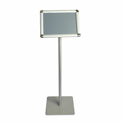 Offex A4 Size Pedestal Floor Standing Poster Sign Holder Display Stand