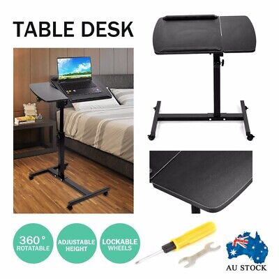 Adjustable Laptop Desk Stand Bedside Computer Table PC IPAD Mobile Note Book AUS