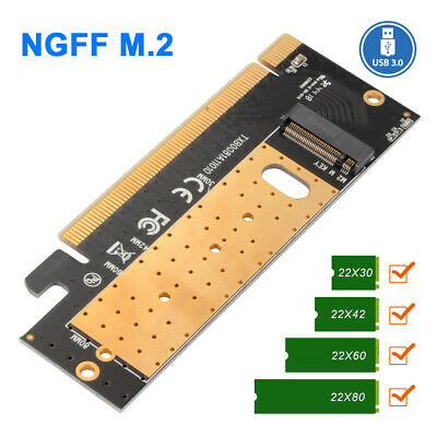 Adaptateur d'extension Supprot M Key M.2 NGFF NVMe SSD vers PCI-E 16x 3.0 AC1914