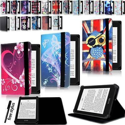 Leather Stand Flip Cover Case For Amazon Paperwhite 1/2/3/4 & Kindle 4/5//7/8/9
