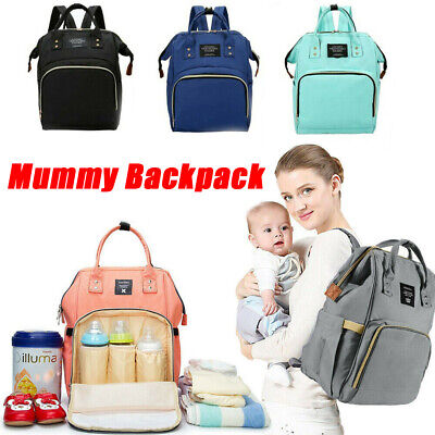 New Multi-use Large Mummy Nappy Diaper Bag Baby Travel Changing Nursing Backpack