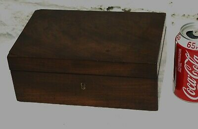 Antique Wooden Solid Mahogany Jewellery Paint Scientific Slot Box 4 Restoration