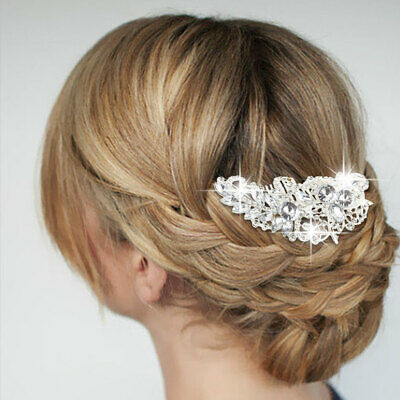 Diamond Flower Rhinestone Hair Clip Bride Hairpin Crystal Hair Comb Wedding New