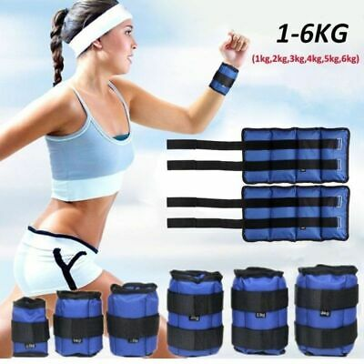 1KG-6KG Ankle Weights Leg Wrist Running Boxing Bracelet Strap Gym Yoga Workout