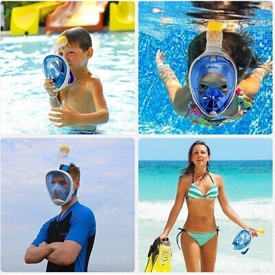 Kids Child Anti-Fog Full Face Diving Mask Swimming Scuba Snorkeling Breath Pipe
