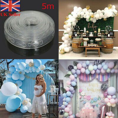 100Pcs DIY Balloon Arch Kit Connect Chain Frame Wedding Birthday Party Supplies